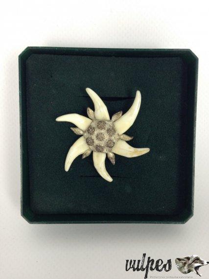Poľovnícky šperk na pripnutie (líščie zuby, striebro), č.v.:002